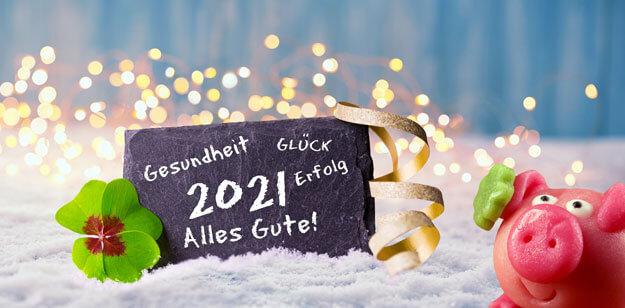 Viel Glück & Gesundheit für 2021